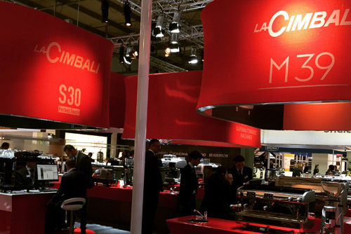 Cimbali booth at HOST 2015